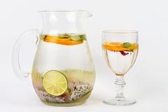 Γλυκό νερό με τα φρούτα Στοκ Φωτογραφίες
