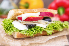 γλυκό σάντουιτς Στοκ εικόνα με δικαίωμα ελεύθερης χρήσης