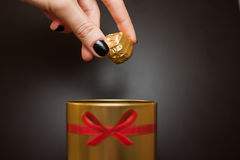 γλυκό σοκολάτας καραμ&epsi Στοκ Εικόνα