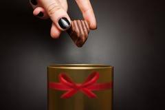γλυκό σοκολάτας καραμ&epsi Στοκ εικόνα με δικαίωμα ελεύθερης χρήσης