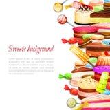 Γλυκό υπόβαθρο τροφίμων Στοκ εικόνες με δικαίωμα ελεύθερης χρήσης