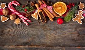 Γλυκό υπόβαθρο Χριστουγέννων Στοκ Εικόνες