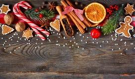 Γλυκό υπόβαθρο Χριστουγέννων Στοκ εικόνες με δικαίωμα ελεύθερης χρήσης