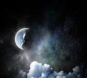 Γλυκό όνειρο νύχτας Μικτά μέσα Στοκ εικόνες με δικαίωμα ελεύθερης χρήσης