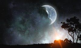 Γλυκό όνειρο νύχτας Μικτά μέσα Στοκ φωτογραφία με δικαίωμα ελεύθερης χρήσης