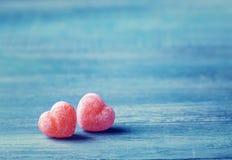 γλυκό δύο καρδιών Στοκ φωτογραφία με δικαίωμα ελεύθερης χρήσης