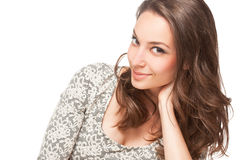 Γλυκό brunette Στοκ φωτογραφίες με δικαίωμα ελεύθερης χρήσης