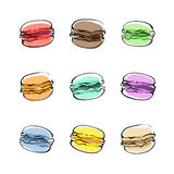 Γλυκό macaron ελεύθερη απεικόνιση δικαιώματος