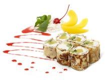 Γλυκό maki στο άσπρο υπόβαθρο Στοκ Εικόνα