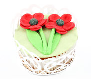 Γλυκό muffin λουλουδιών άνοιξη Στοκ Εικόνα