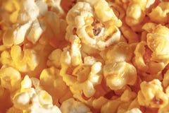 Γλυκό popcorn υπόβαθρο στην κινηματογράφηση σε πρώτο πλάνο Στοκ Εικόνες