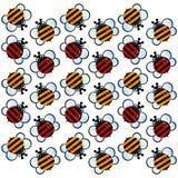 Γδυμένο σχέδιο μελισσών Στοκ Φωτογραφία