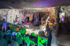 Γλυπτά στο διάσημο αλατισμένο ορυχείο σε Wieliczka, Πολωνία στοκ εικόνα με δικαίωμα ελεύθερης χρήσης