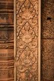 Γλυπτά στο ναό Banteay Srei, Angor Wat Καμπότζη Στοκ φωτογραφία με δικαίωμα ελεύθερης χρήσης