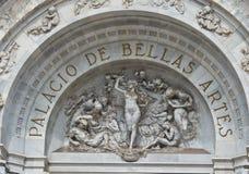 Γλυπτά στο παλάτι Bellas Artes των Καλών Τεχνών, Πόλη του Μεξικού, Μεξικό Στοκ Εικόνες