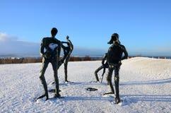 Γλυπτά στο χιόνι Στοκ Εικόνες
