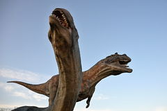 Γλυπτά των προϊστορικών αρπακτικών ζώων Στοκ φωτογραφία με δικαίωμα ελεύθερης χρήσης