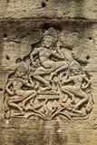 Γλυπτά των χορευτών apsara στο ναό, Angkor Wat Καμπότζη Στοκ φωτογραφία με δικαίωμα ελεύθερης χρήσης