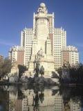 Γλυπτά Don Δον Κιχώτης και Sancho Panza στο τετράγωνο Spai στοκ φωτογραφία