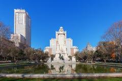 Γλυπτά Don Δον Κιχώτης και Sancho Panza Plaza de Espana στη Μαδρίτη, Ισπανία Στοκ Φωτογραφίες