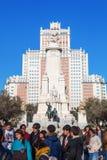 Γλυπτά Don Δον Κιχώτης και Sancho Panza Plaza de Espana στη Μαδρίτη, Ισπανία Στοκ εικόνες με δικαίωμα ελεύθερης χρήσης