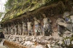 Γλυπτικές βράχου βουνών Bao Ding Dazu Στοκ φωτογραφία με δικαίωμα ελεύθερης χρήσης