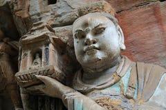 Γλυπτικές βράχου Dazu, Κίνα Στοκ Εικόνα