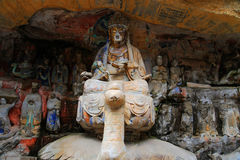 Γλυπτικές βράχου Dazu, Κίνα Στοκ Φωτογραφία