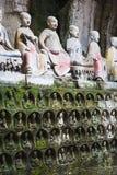 Γλυπτικές βράχου Dazu στοκ εικόνες