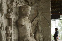 Γλυπτικές βράχου Dazu Στοκ φωτογραφία με δικαίωμα ελεύθερης χρήσης