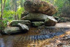 Γλυπτικές πετρών Spean Kbal Στοκ εικόνα με δικαίωμα ελεύθερης χρήσης