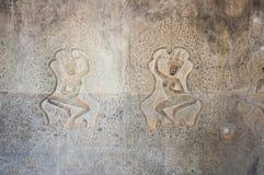 Γλυπτικές Apsara σε Angkor Wat Στοκ φωτογραφία με δικαίωμα ελεύθερης χρήσης