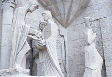 Γλυπτική σύνθεση της άσπρης πέτρας Στοκ εικόνες με δικαίωμα ελεύθερης χρήσης