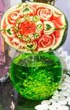 Γλυπτική φρούτων καρπουζιών Στοκ φωτογραφίες με δικαίωμα ελεύθερης χρήσης