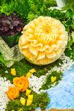 Γλυπτική φρούτων πεπονιών Στοκ εικόνες με δικαίωμα ελεύθερης χρήσης