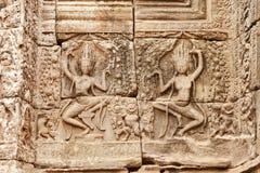Γλυπτική Apsara, Angkor wat, Καμπότζη Στοκ Φωτογραφίες