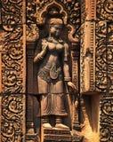 Γλυπτική Apsara, Angkor wat, Καμπότζη Στοκ Εικόνες