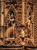 Γλυπτική Apsara, Angkor wat, Καμπότζη Στοκ Φωτογραφία