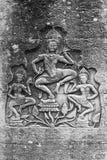 Γλυπτική Apsara, Angkor wat, Στοκ Εικόνα