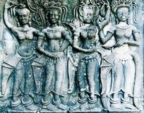 Γλυπτική Apsara, Angkor wat, Στοκ φωτογραφίες με δικαίωμα ελεύθερης χρήσης