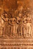 Γλυπτική Apsara, Angkor wat Στοκ Εικόνες