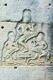 Γλυπτική Apsara, Angkor wat Στοκ Εικόνα