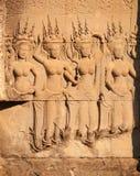 Γλυπτική Apsara, Angkor wat, Στοκ φωτογραφία με δικαίωμα ελεύθερης χρήσης