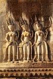 Γλυπτική Apsara, Angkor wat, Στοκ Εικόνες