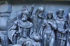 Γλυπτικοί πολιτικοί ομάδας στη χιλιετία μνημείων της Ρωσίας, Veliky Novgorod, Ρωσία στοκ φωτογραφία με δικαίωμα ελεύθερης χρήσης