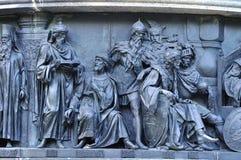Γλυπτικοί πολιτικοί ομάδας στη χιλιετία μνημείων της Ρωσίας, Veliky Novgorod, Ρωσία στοκ εικόνες με δικαίωμα ελεύθερης χρήσης