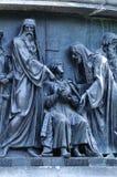 Γλυπτικοί πολιτικοί ομάδας στη χιλιετία μνημείων της Ρωσίας, Veliky Novgorod, Ρωσία στοκ εικόνα