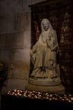 Γλυπτό Αγίου Anne και της νέας Virgin Mary στην εκκλησία του ST Anne, Ιερουσαλήμ Στοκ Εικόνες