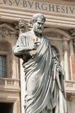 Γλυπτό Αγίου Peter, Βατικανό Στοκ Φωτογραφία