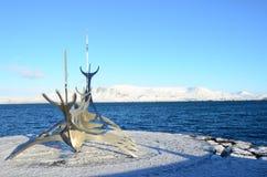 Γλυπτό βαρκών Βίκινγκ Στοκ φωτογραφίες με δικαίωμα ελεύθερης χρήσης